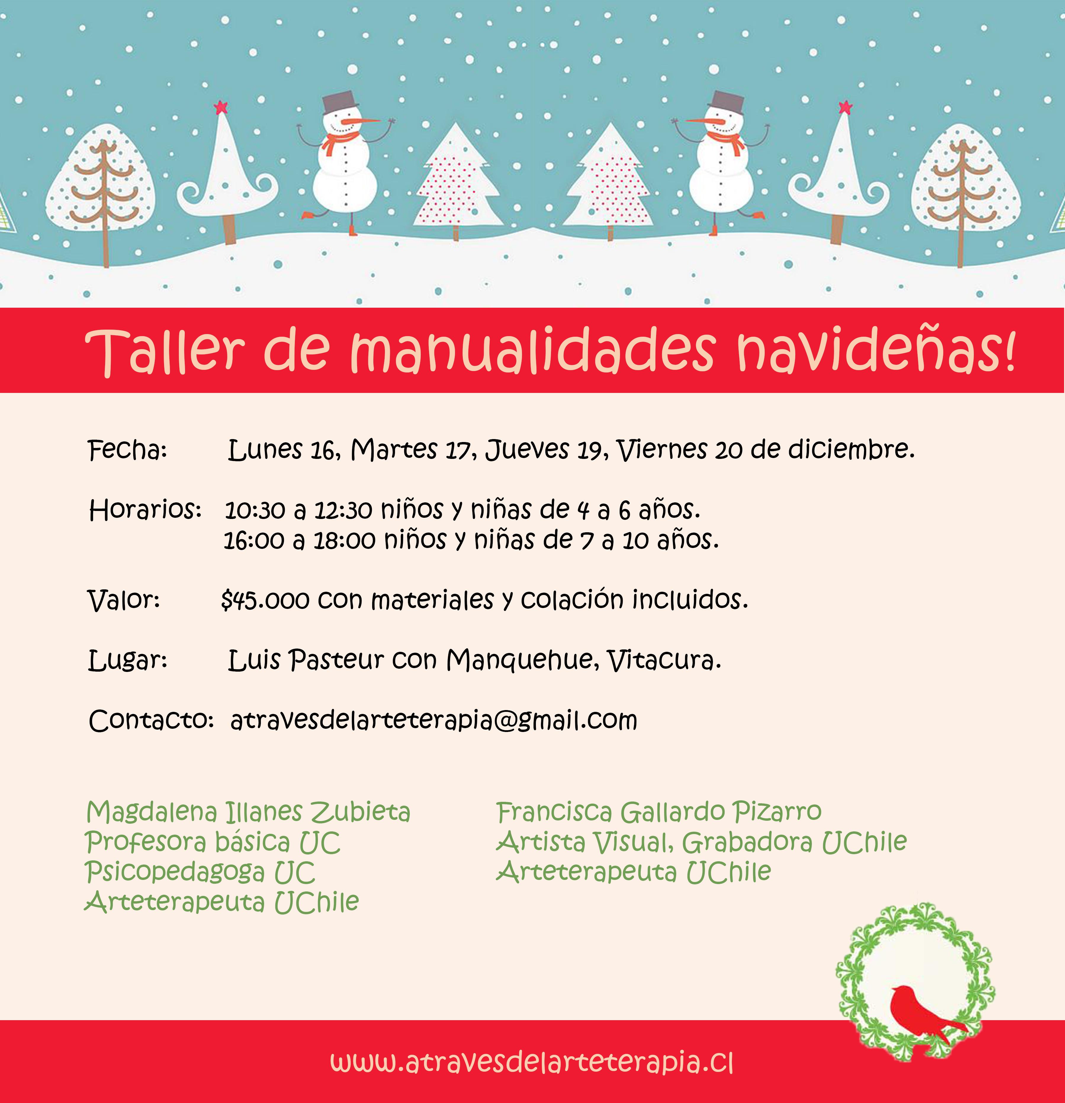 Taller de manualidades navide as para ni os a trav s del for Manualidades navidenas para ninos